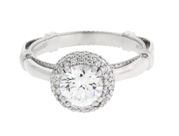 Verragio Parisian 133RD diamond halo engagement ring in white gold