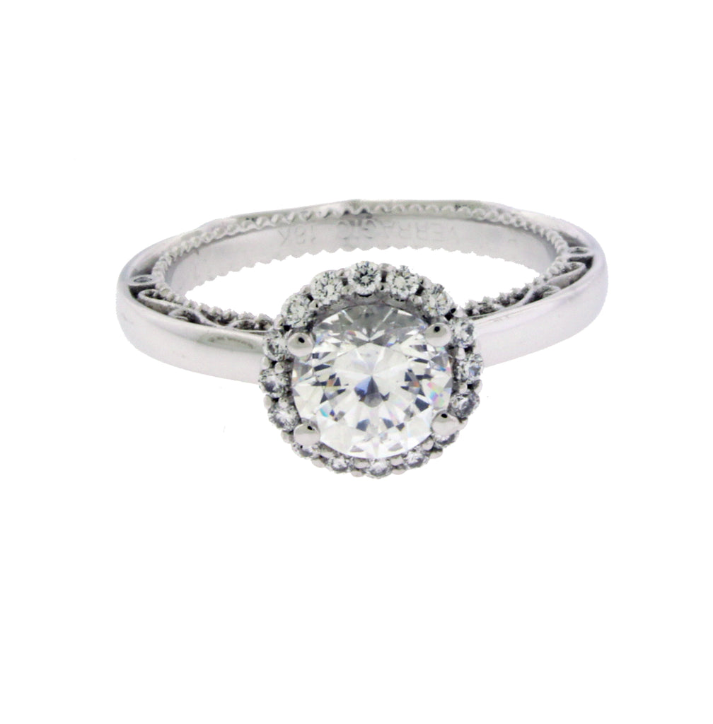 Verragio Parisian 5042R diamond halo engagement ring in 18k white gold
