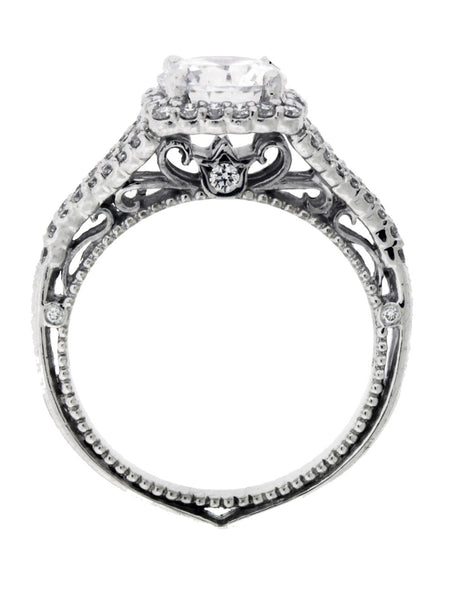 Verragio Venetian 5020CU 18k diamond halo engagement ring Size 6.25