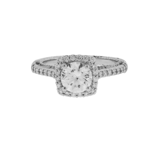 Verragio Venetian 5022CU 18k w gold diamond engagement ring size 6