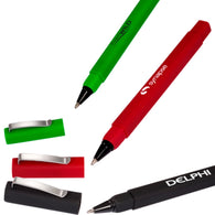 SQUARE RUBBER PEN WITH CAP