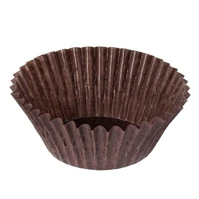 Glassine Truffle Cups - BROWN