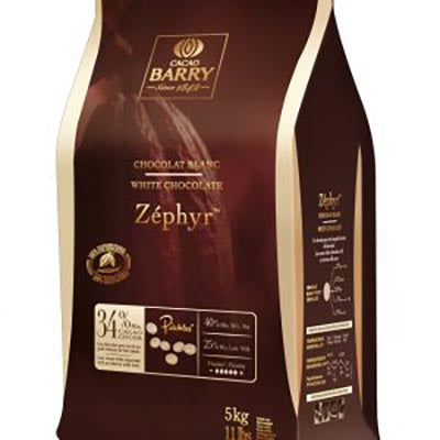 Cacao Barry 34% 'Zéphyr' White Chocolate Callets