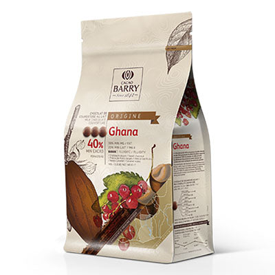 "Cacao Barry ""Ghana"" 40% Milk Chocolate Callets"