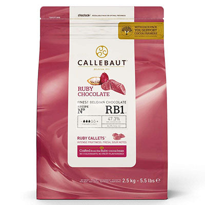 "Callebaut 47.3%  ""Ruby"" Chocolate Callets"