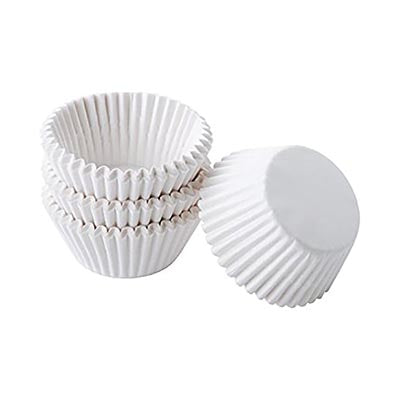 Glassine Truffle Cups - WHITE