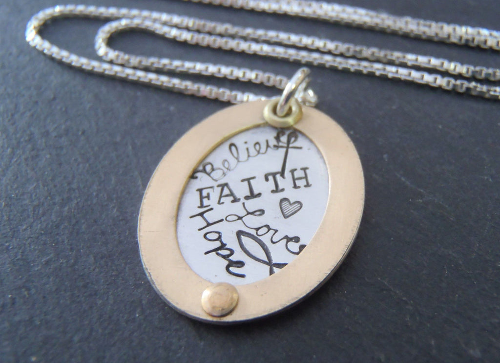 Ichthus necklace with cross and faith inspirational jewelry. - Drake Designs Jewelry