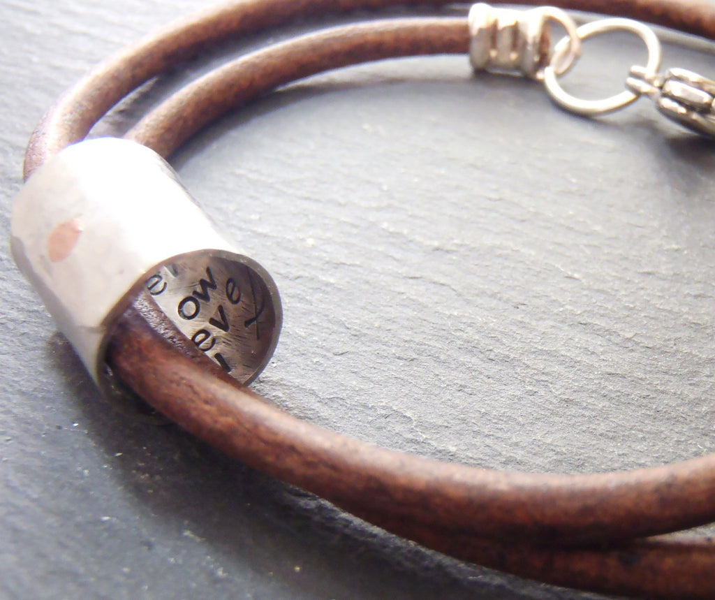 Secret message bracelet for men or women with message hidden inside - Drake Designs Jewelry