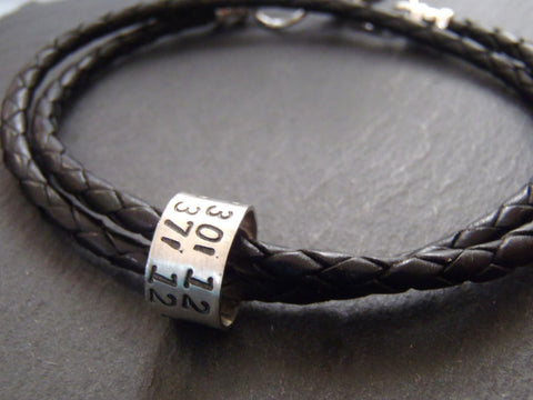 GPS coordinates Bracelet for men or women latitude longitude jewelry - Drake Designs Jewelry