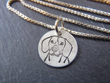 sterling silver Beagle necklace.  Beagle dog breed jewelry gift.  Drake designs jewelry