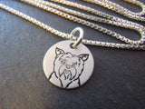 yorkshire terrier neckace. yorkie jewelry sterling silver.  drake designs jewelry