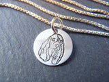 Cocker Spaniel necklace in sterling silver.  Cocker Spaniel jewelry.  Drake Designs Jewelry