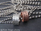 tiny custom coordinates necklace gps latitude longitude jewelry for men or women - Drake Designs Jewelry