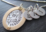 Dog mom Mixed metal pet necklace personalized - Drake Designs Jewelry