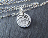 Birth flower necklace. personalized birthday gift or mom necklace - Drake Designs Jewelry