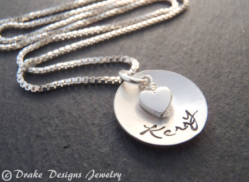 Sterling silver personalized name necklace gift for her - Drake Designs Jewelry