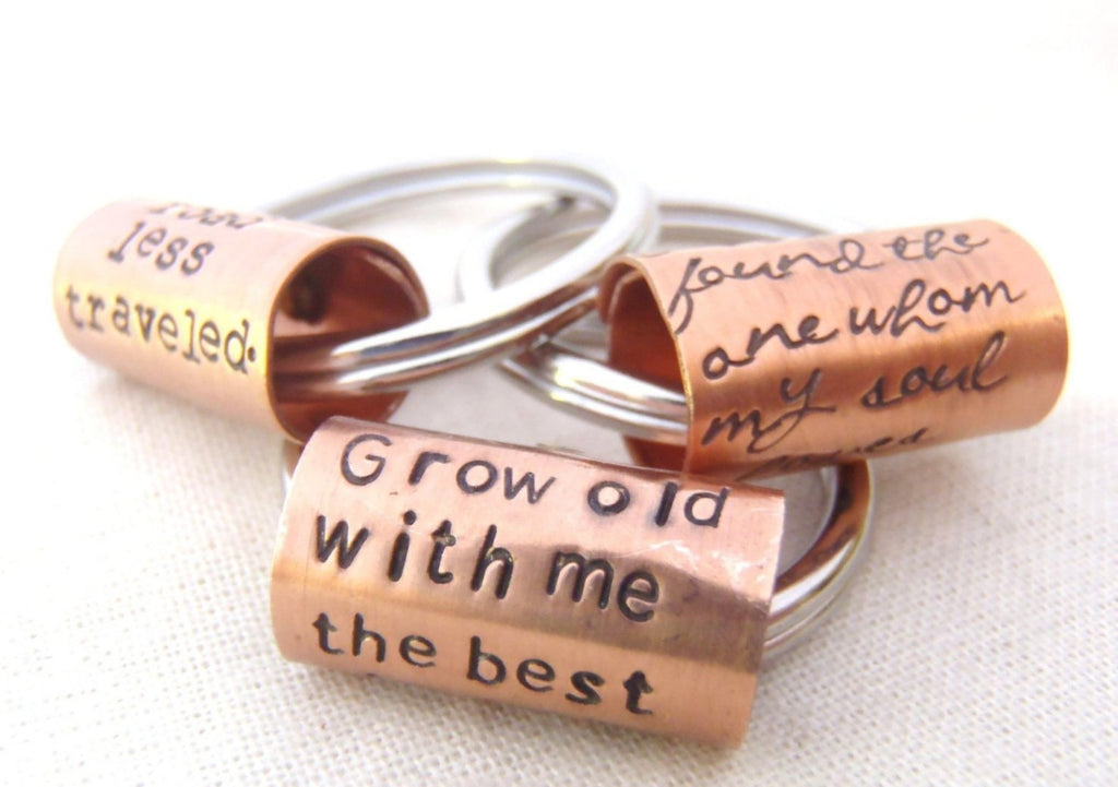 Custom quote keychain with your own inspirational quote - Drake Designs Jewelry