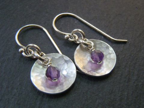 Sterling Silver and Amethyst earrings February birthstone Jewelry - Drake Designs Jewelry