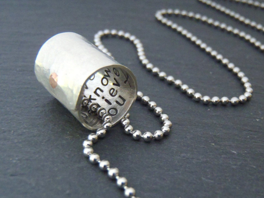 Personalized hidden custom message necklace - Secret Message Jewelry - Drake Designs Jewelry
