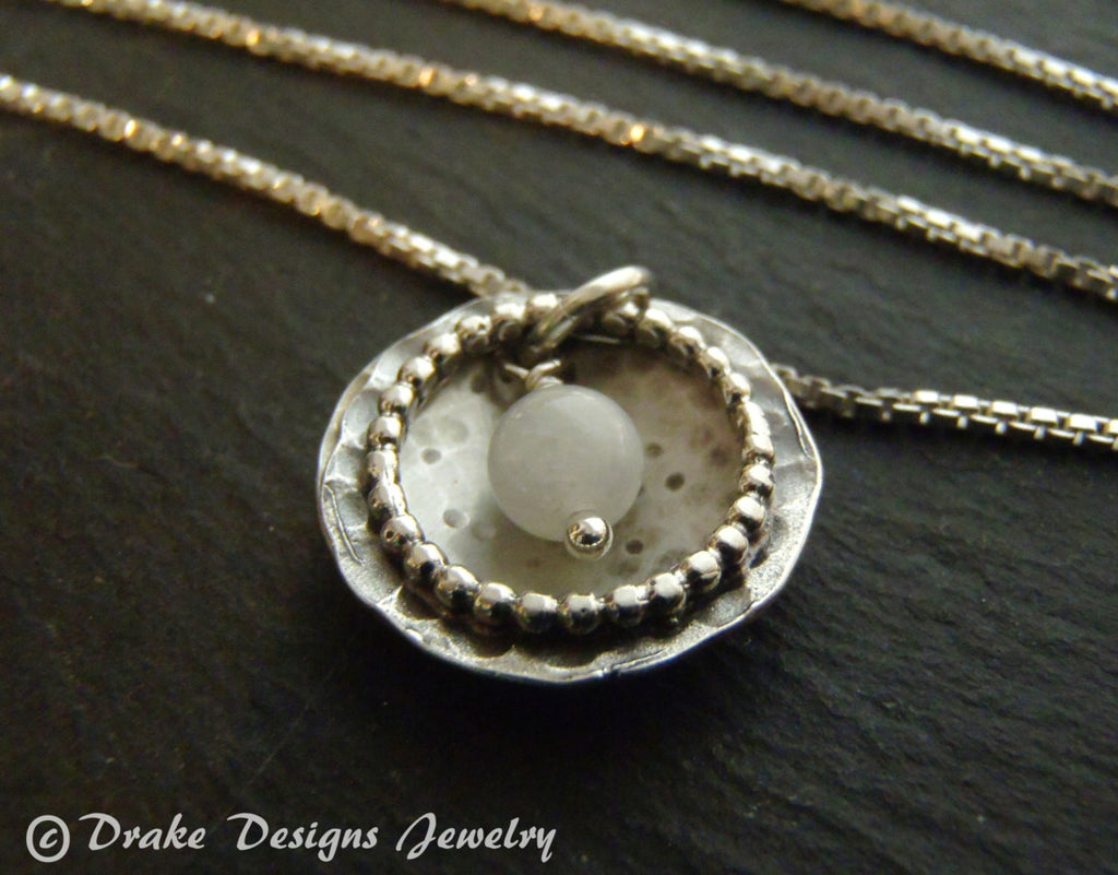 sterling silver moonstone necklace constellation jewelry - Drake Designs Jewelry
