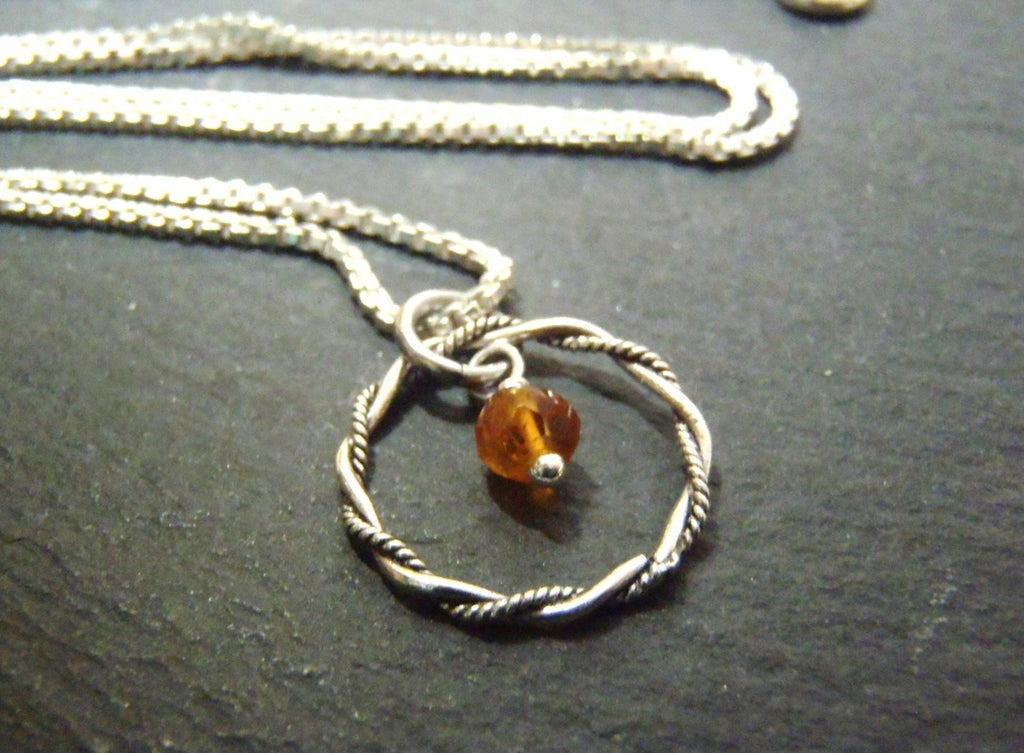 November birthstone Sterling silver Citrine necklace - Drake Designs Jewelry
