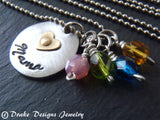 Personalized Mother's Day heart birthstone necklace - Drake Designs Jewelry