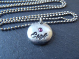 Personalized necklace with kids names and birthstones - Drake Designs Jewelry