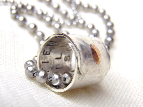 Personalized Secret Message Necklace with your meaninful message inside - Drake Designs Jewelry