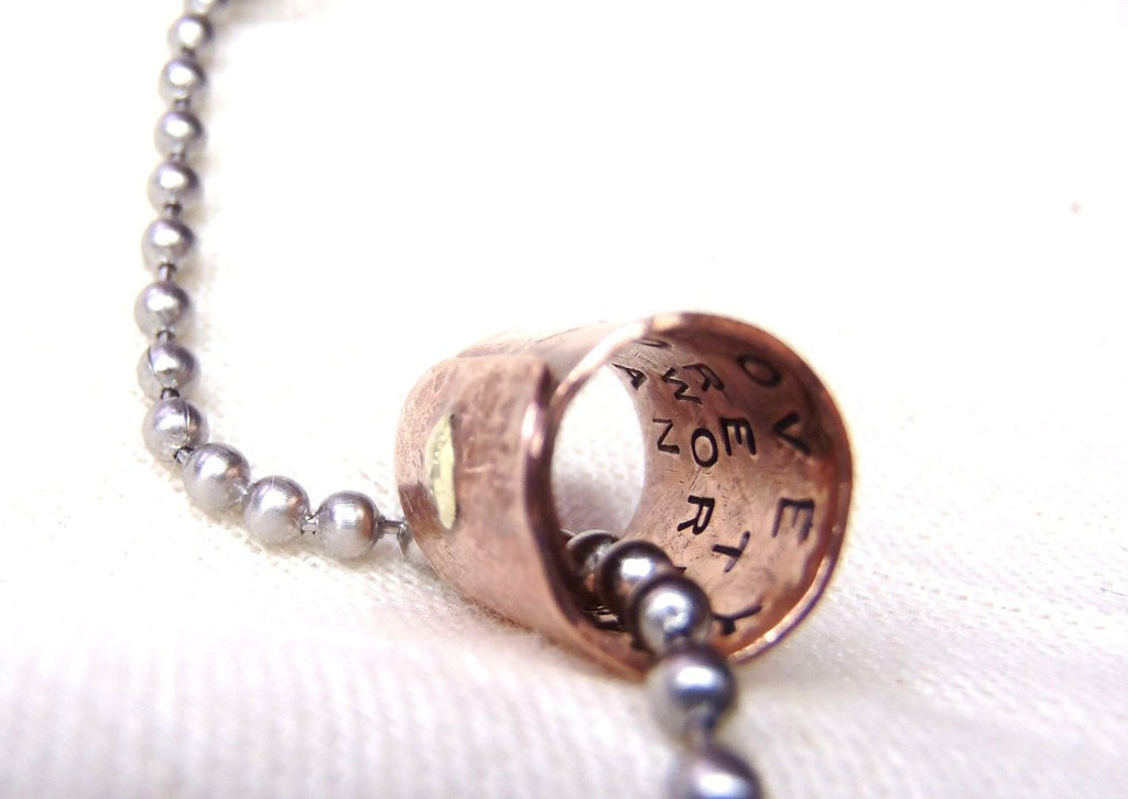 Secret Message Necklace personalized for men or women hand crafted with message hidden inside - Drake Designs Jewelry