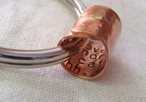 Personalized secret message keychain Gift for Men or women - Drake Designs Jewelry