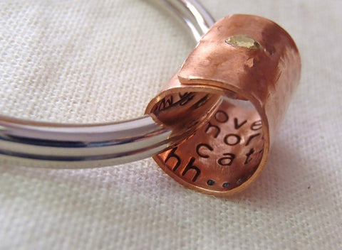 Secret Message Keychain personalized with your message hidden inside - Drake Designs Jewelry