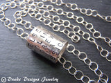 Sterling silver Personalized Family name Necklace with children's names - Drake Designs Jewelry