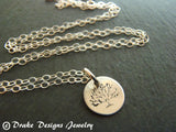 Tree Necklace in Sterling Silver dainty and tiny - Drake Designs Jewelry