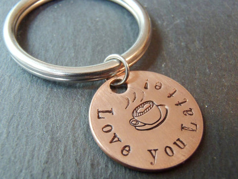 love you latte keychain coffee lover gift - Drake Designs Jewelry