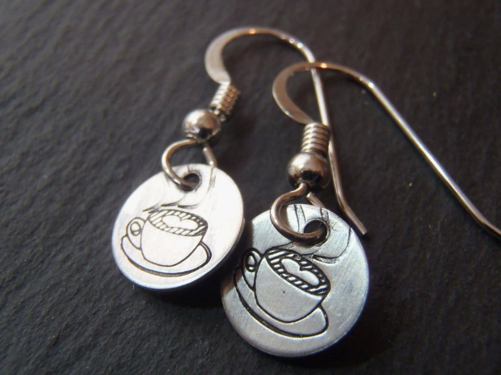 Sterling Silver coffee earrings - Drake Designs Jewelry