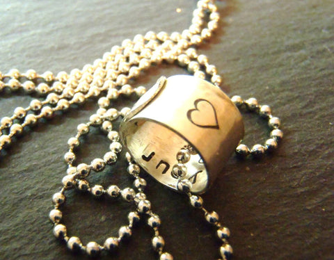 I carry your heart necklace with message hidden inside - Drake Designs Jewelry