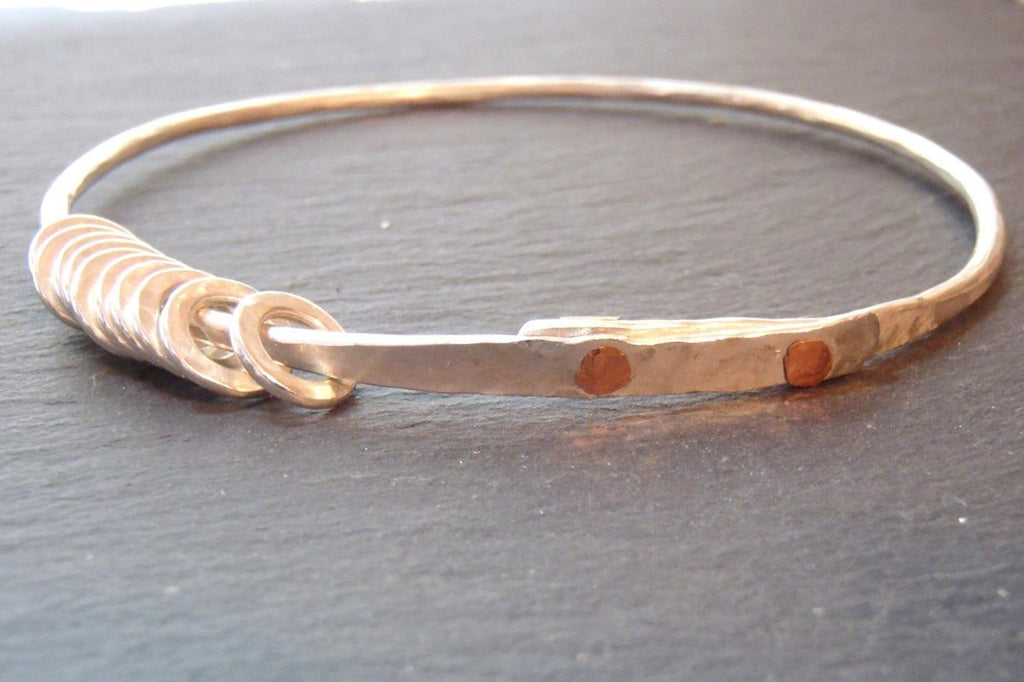 Solid Sterling silver jingle jangle bangle bracelet - Drake Designs Jewelry