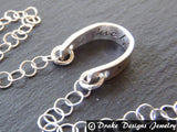 sterling silver horseshoe necklace lucky jewelry - Drake Designs Jewelry