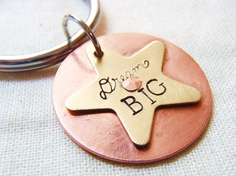 inspirational graduation gift - Dream BIG keychain - Drake Designs Jewelry