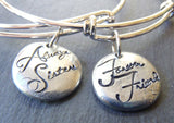 sisters bracelets SET of TWO jewelry gift for sister - Drake Designs Jewelry