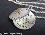 Sterling silver inspirational necklace star locket - Drake Designs Jewelry