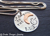 Sterling Silver I love you to the moon and back necklace - Drake Designs Jewelry