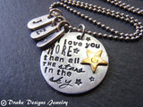 Star mom necklace - I love you more than all the stars in the sky - Drake Designs Jewelry