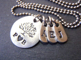 Personalized family tree necklace - mothers tree of life - Drake Designs Jewelry