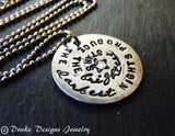 Inspirational quote necklace - the darkest nights produce the brightest stars - Drake Designs Jewelry