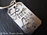 wedding gift  mother of the bride gift father of the bride gift forever your little girl always - Drake Designs Jewelry