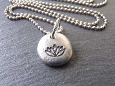 Tiny Pendant Water Lily