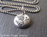 Tiny dandelion wish necklace - Drake Designs Jewelry