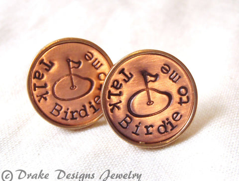 unique golf gifts for men cufflinks gift for golfers - Drake Designs Jewelry