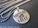 thanksgiving gratitude and grace necklace jewelry inspirational - Drake Designs Jewelry